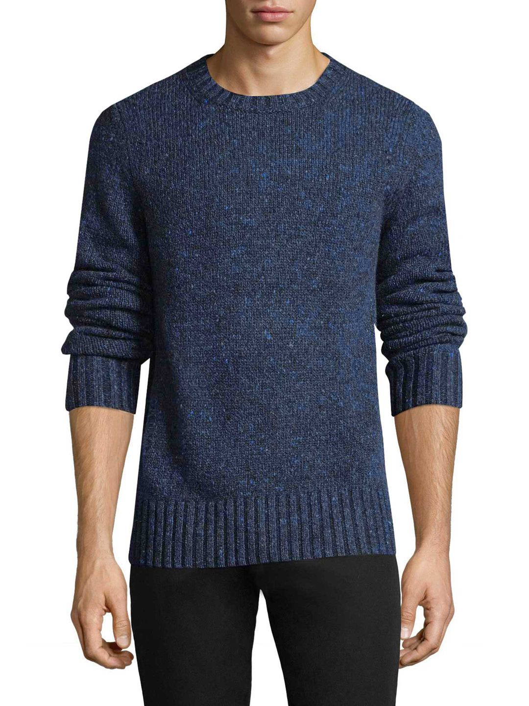 BURBERRY MEN'S CASHMERE AND WOOL BLEND SWEATER - DARK BLUE/NAVY, SIZE XXL.  #burberry #cloth #