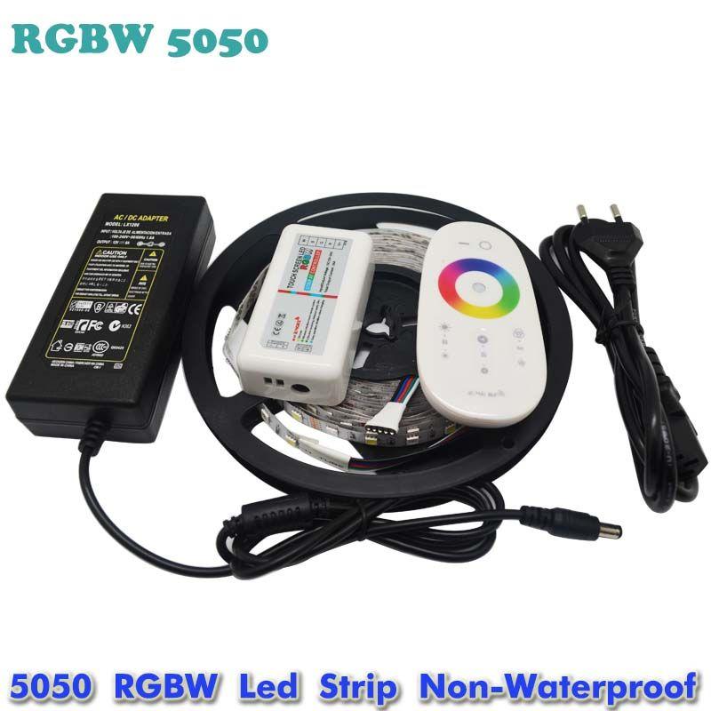 5M Warm White SMD 5050 Non-Waterproof LED Strip Light DC 12V Store Shop
