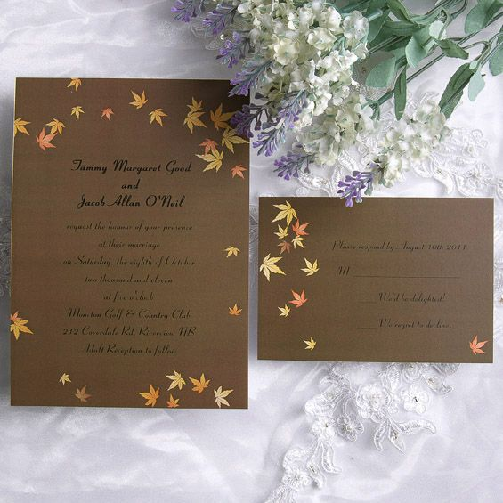 icanhappycom fall wedding invitations cheap 15
