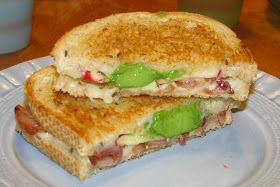 Hot Eats and Cool Reads: Grilled Cheese Sandwich with Bacon, Apple & Avocado Recipe