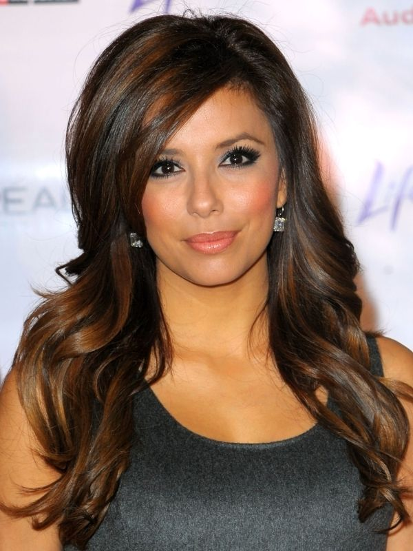 Eva Longoria Summer Hair Highlights Ideas Jpg 600 800 Pixels Hair Styles Highlights For Dark Brown Hair Hair