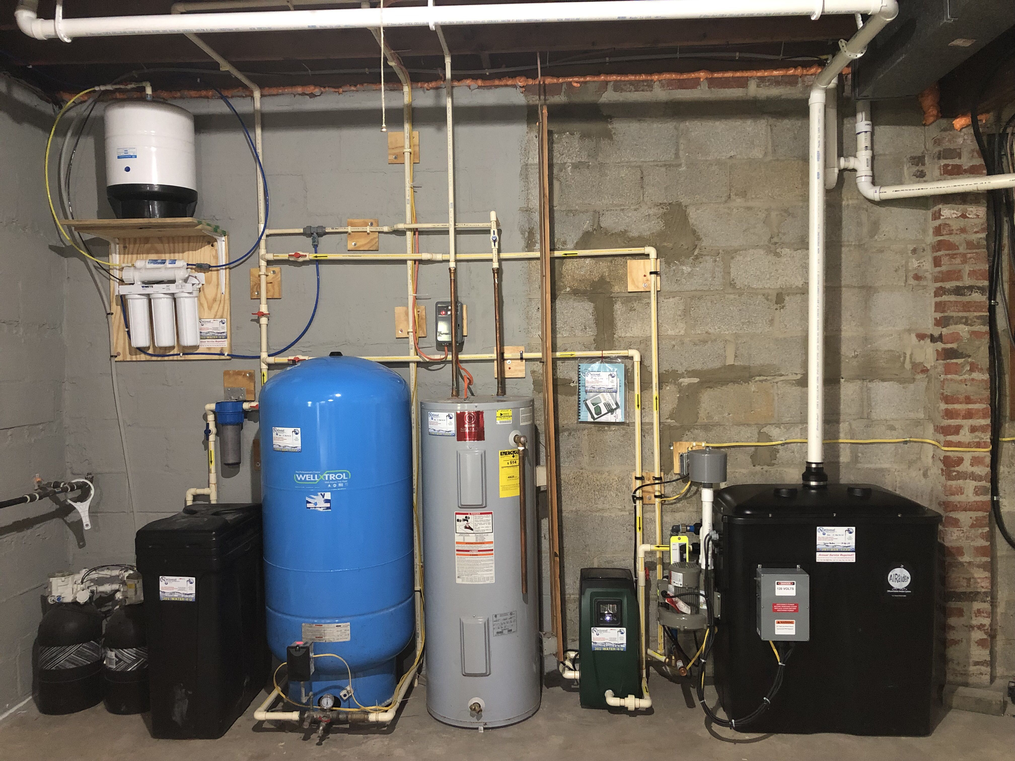 Radon Remediation Water Softener Sediment Filtration Water Heater Pressure Tank In 2020 Water Treatment Water Softener Water Heater