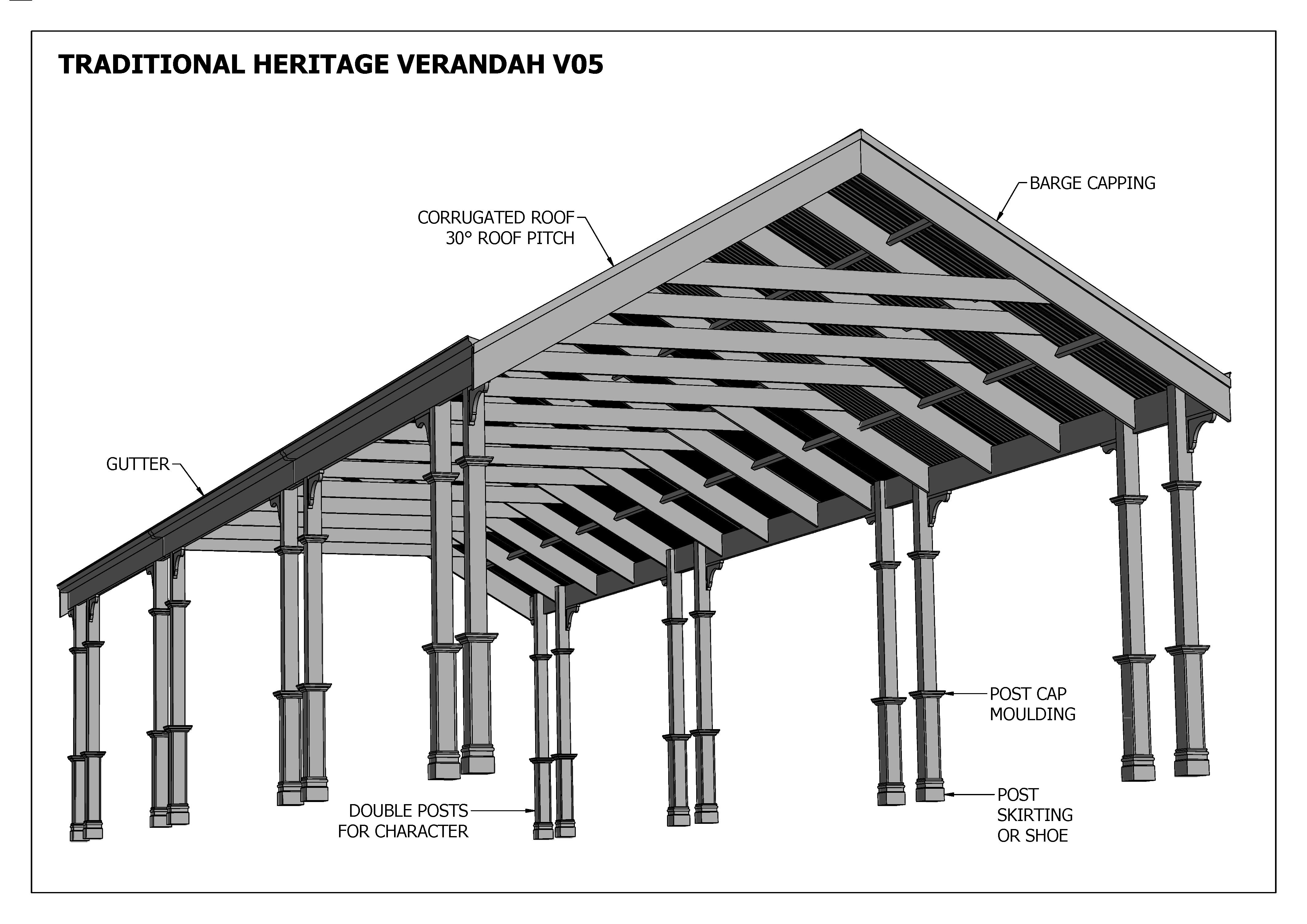 Carport And Verandah Designs Ezebuilt Veranda Carport Design