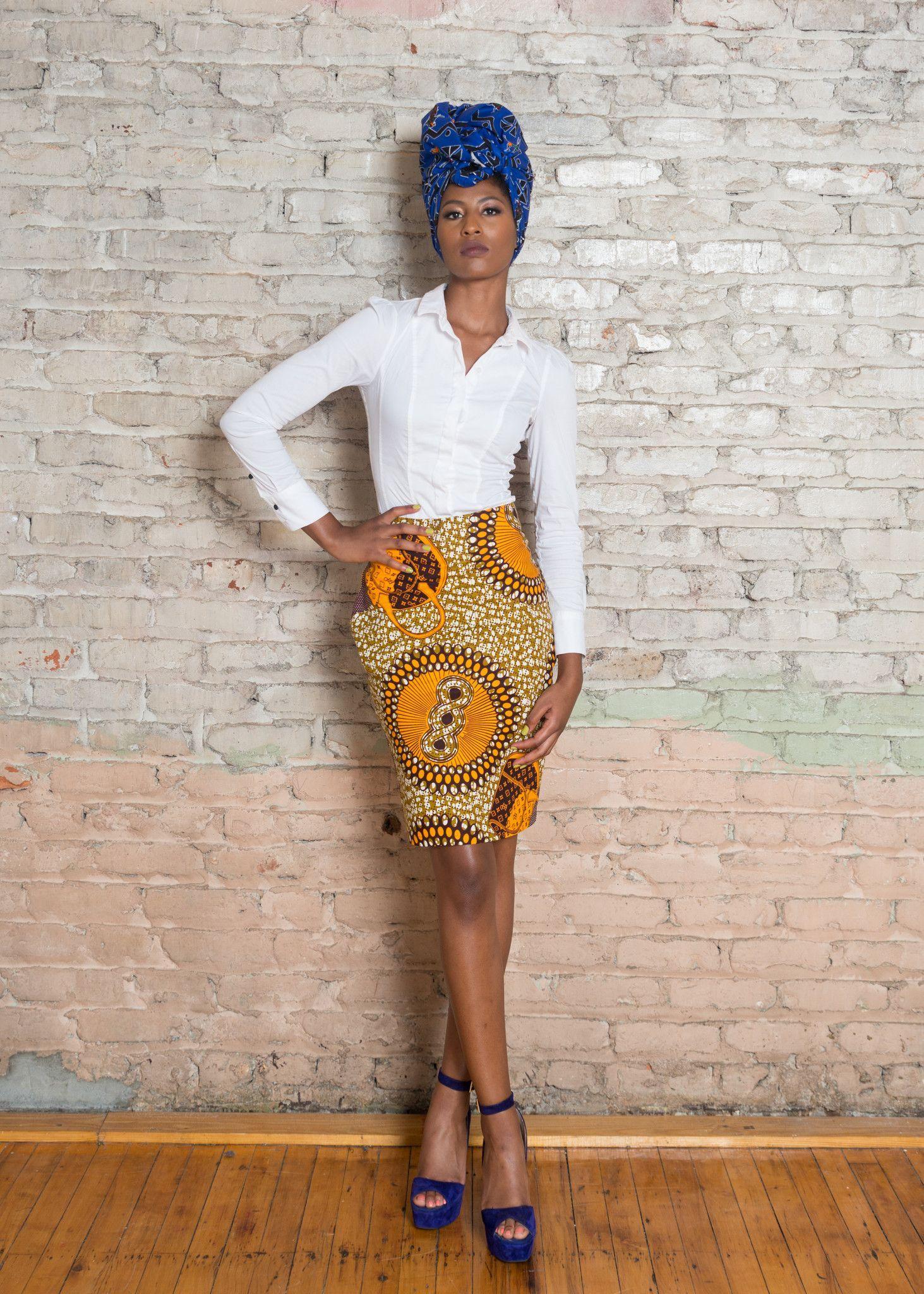 b10efb38127d6b Ankara (African Print) Pencil Skirt Make a statement at work, church or  just keeping it casual at any event in this great Ankara pencil skirt.