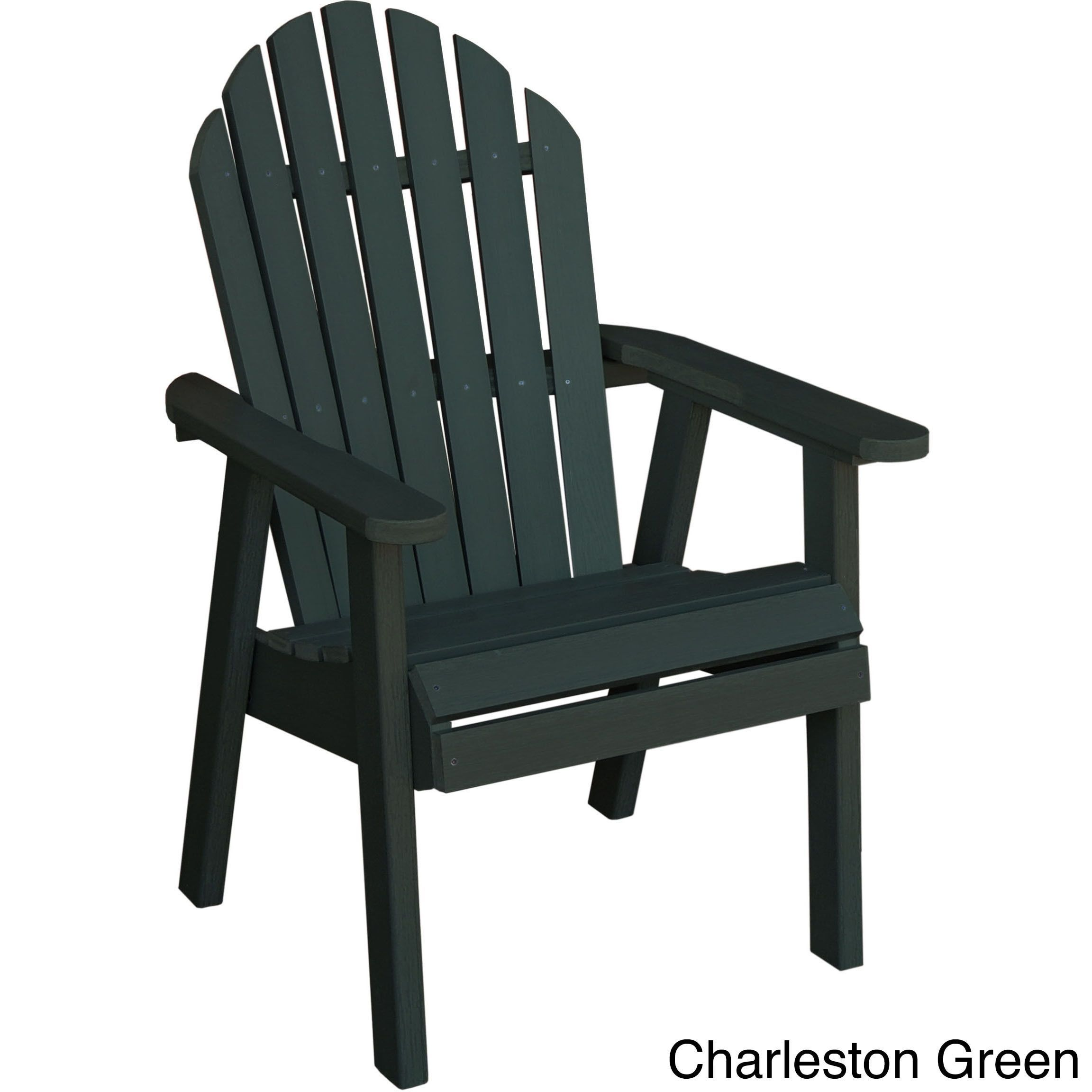 Highwood eco friendly marine grade synthetic wood hamilton deck chair green size single patio furniture plastic