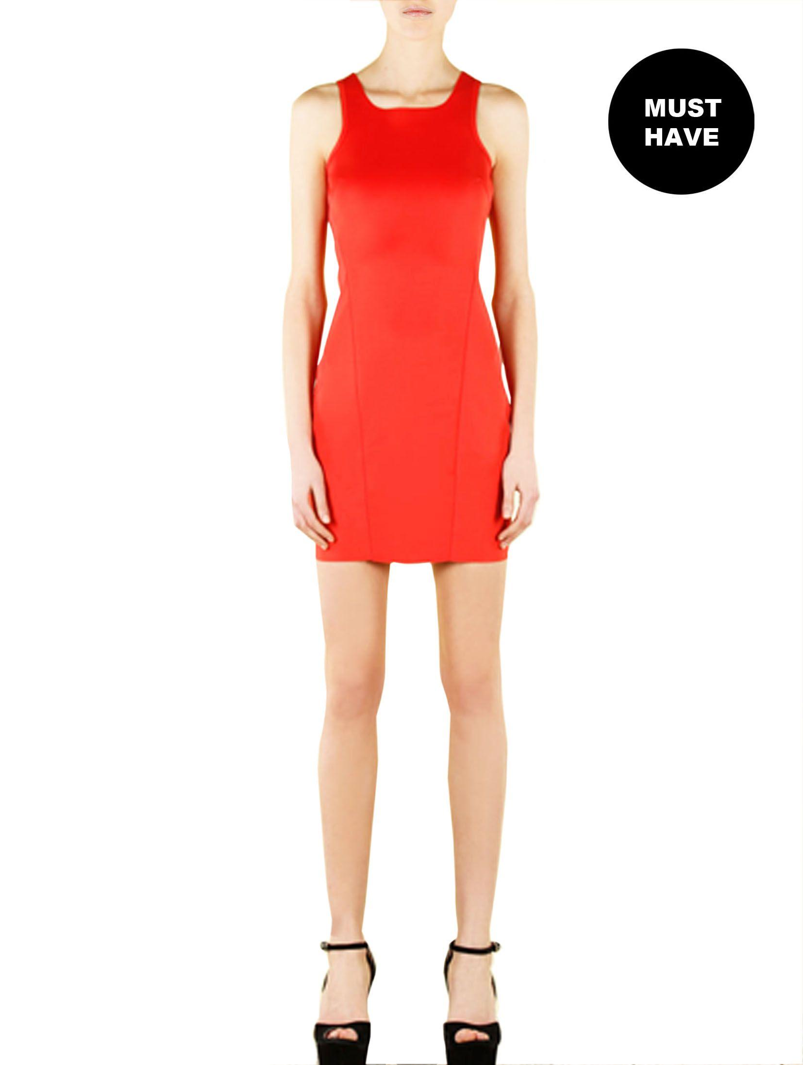 Strawberry love in these Neoprene short dress!