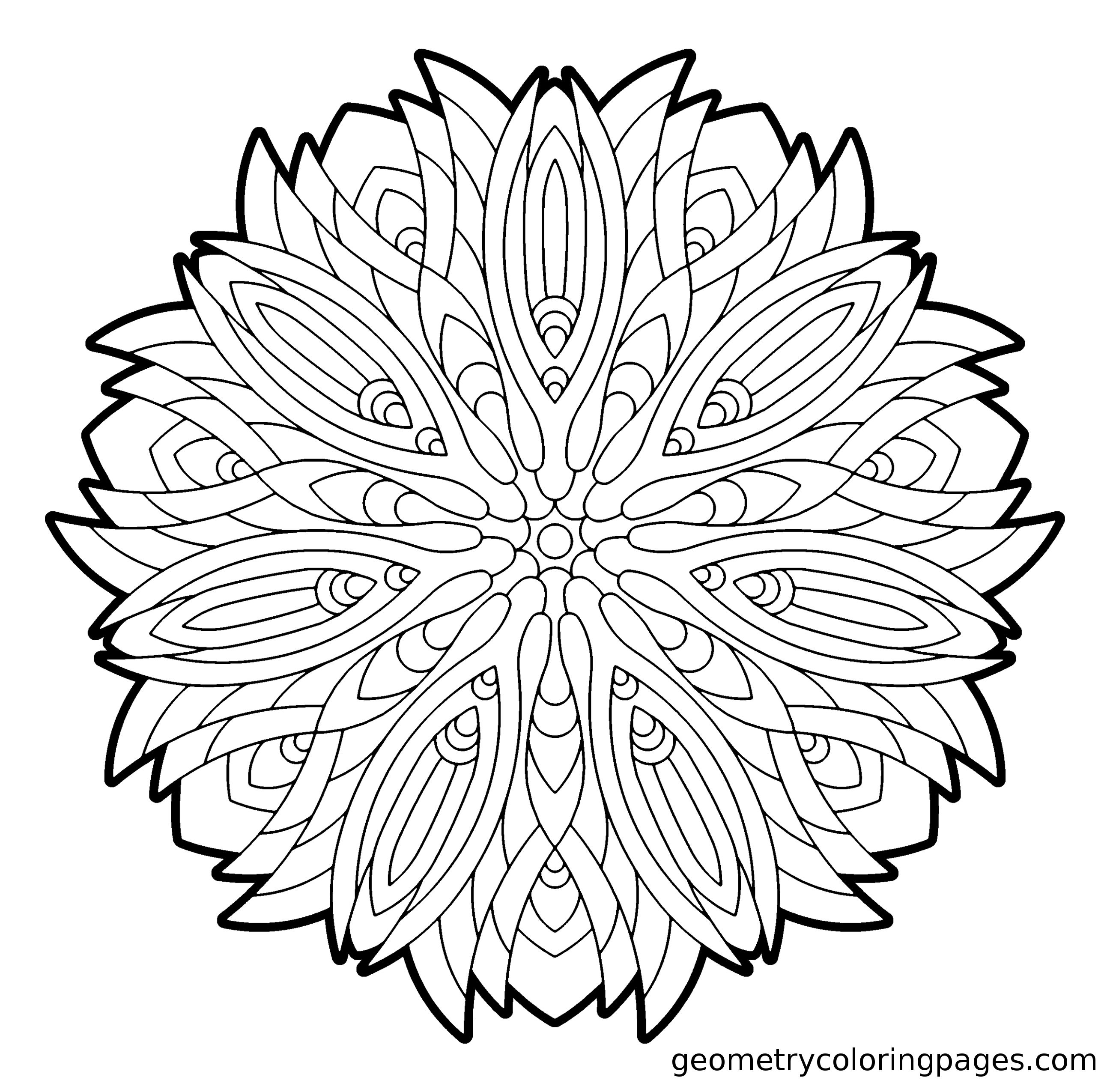 """Tiger Flower""""  Mandala coloring pages, Pattern coloring pages"""