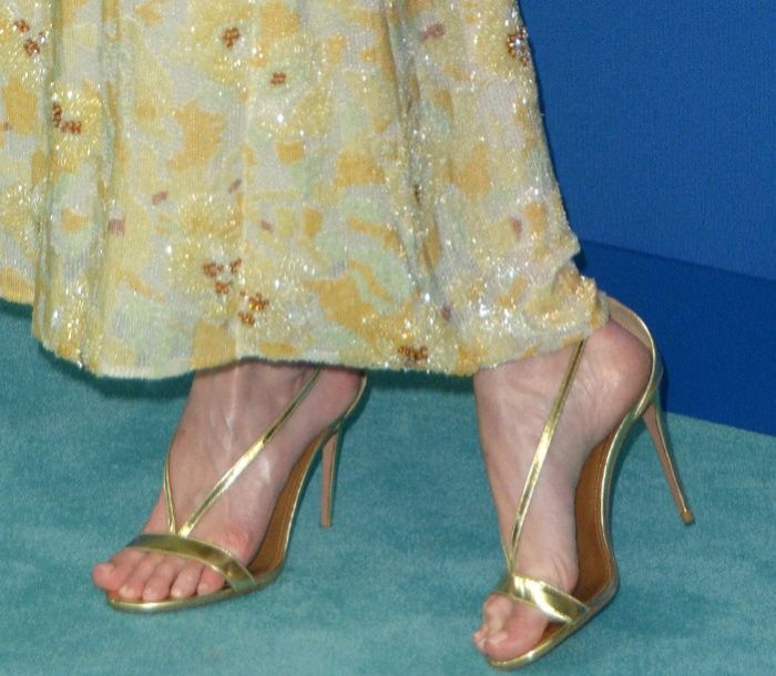 "Metallic From Gold Aquazzura Kate's Leather Sandals ""casanova"" sQrCthd"