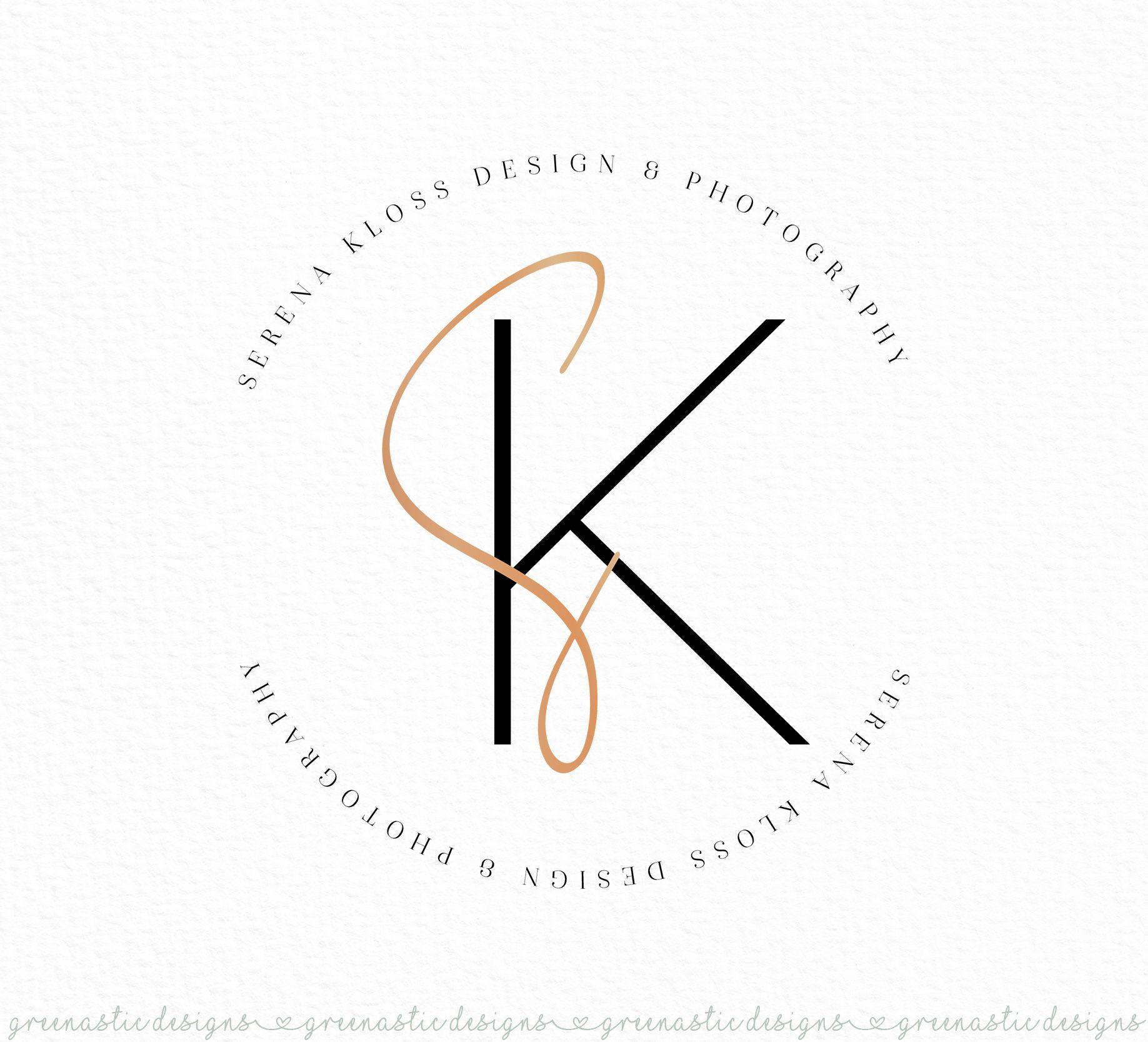 Signature Logo, Simple Feminine Premade Logo Design