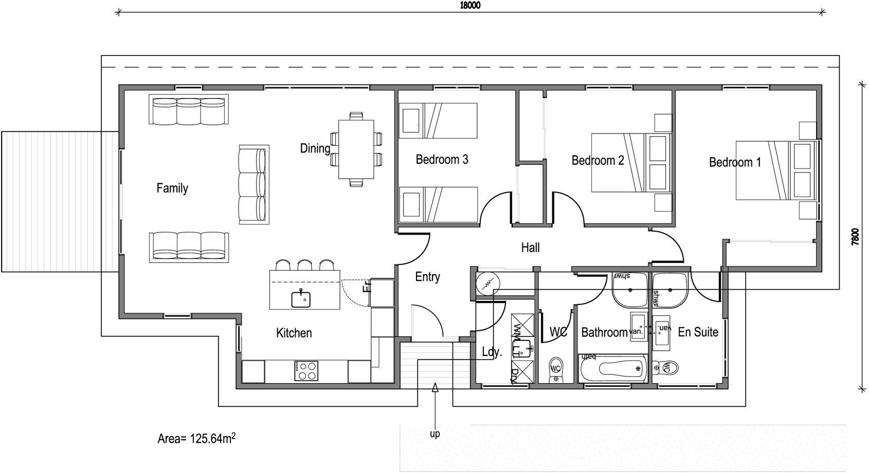 Kotuku 3 Bed 2 Bath 125m Moderno Floor Plans House Plans How To Plan