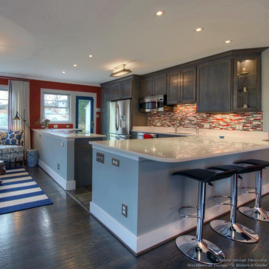 Kitchen Idea Of The Day Blacklines Of Design Beautiful Gray Blda Roderick Shade Peninsula Bar Stools R Kitchen Cabinet Design Kitchen Design Tuscan Kitchen