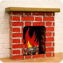 Cardboard Fireplace - Photo | Dramatic Play | Pinterest ...