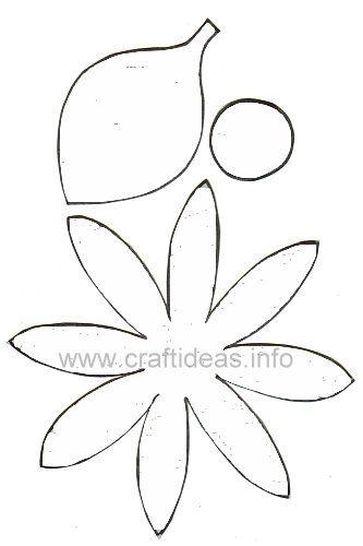 Plantilla margarita de fieltro | moldes, patrones para imprimir ...