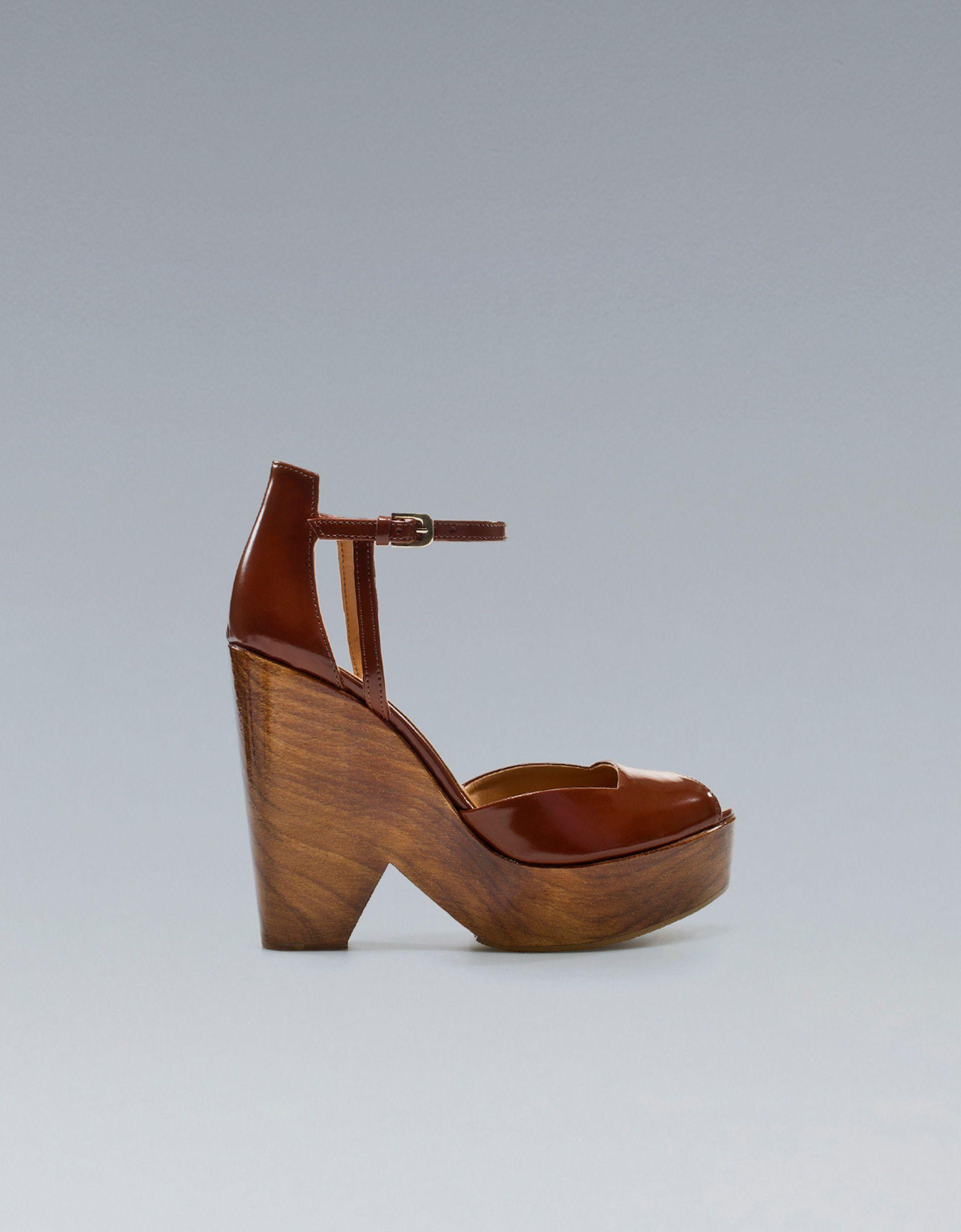 Chaussure Bois Talon 69 Euros Compensé À Zara Antic 95 En xordCeB