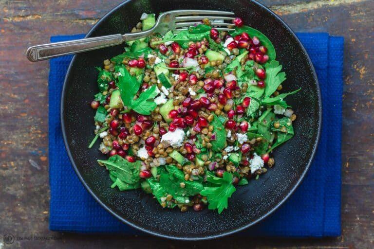 Mediterranean Power Lentil Salad with Spinach  The Mediterranean Dish