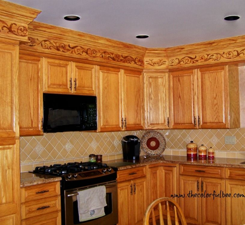 a creative way to disguise ugly kitchen soffits diy soffit kitchen cabinets soffit kitchen cabinets