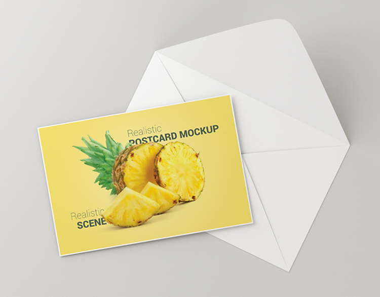 Set Up Your Invitation With The New Realistic Postcard Free Mockup