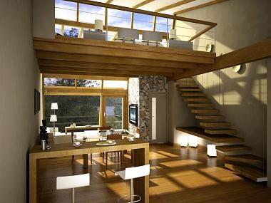 Decora tu loft interiores de madera decoraci n de - Loft decoracion interiores ...