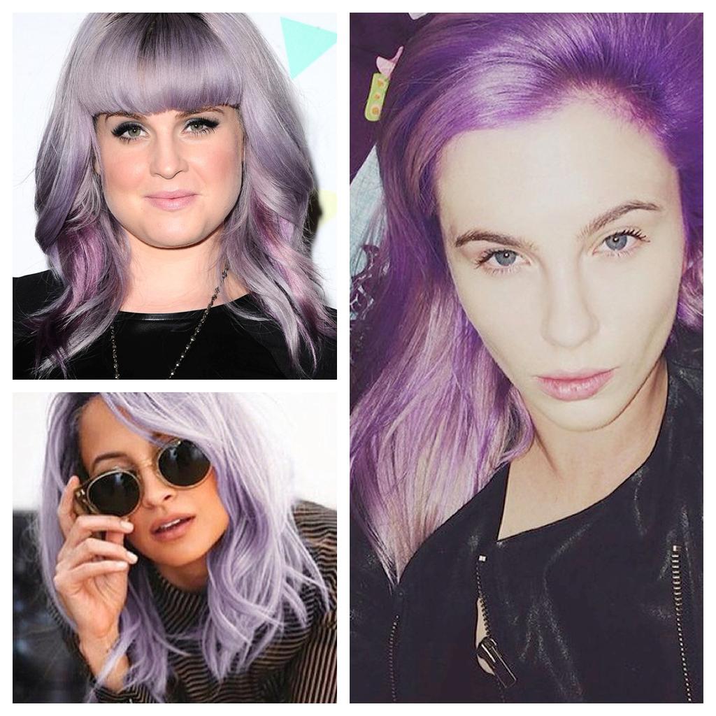 Hair Color Formulas Given Away For Celebrity Favorite Soft Violet Hair