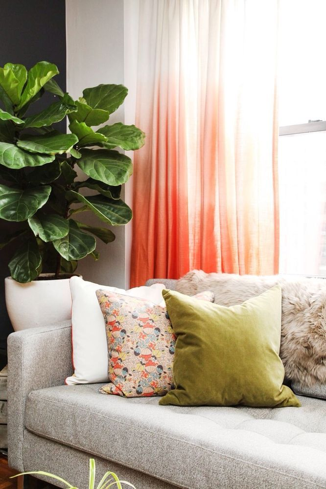 Target Threshold Coral Ombre ONE Curtain Panel Drapes 84\