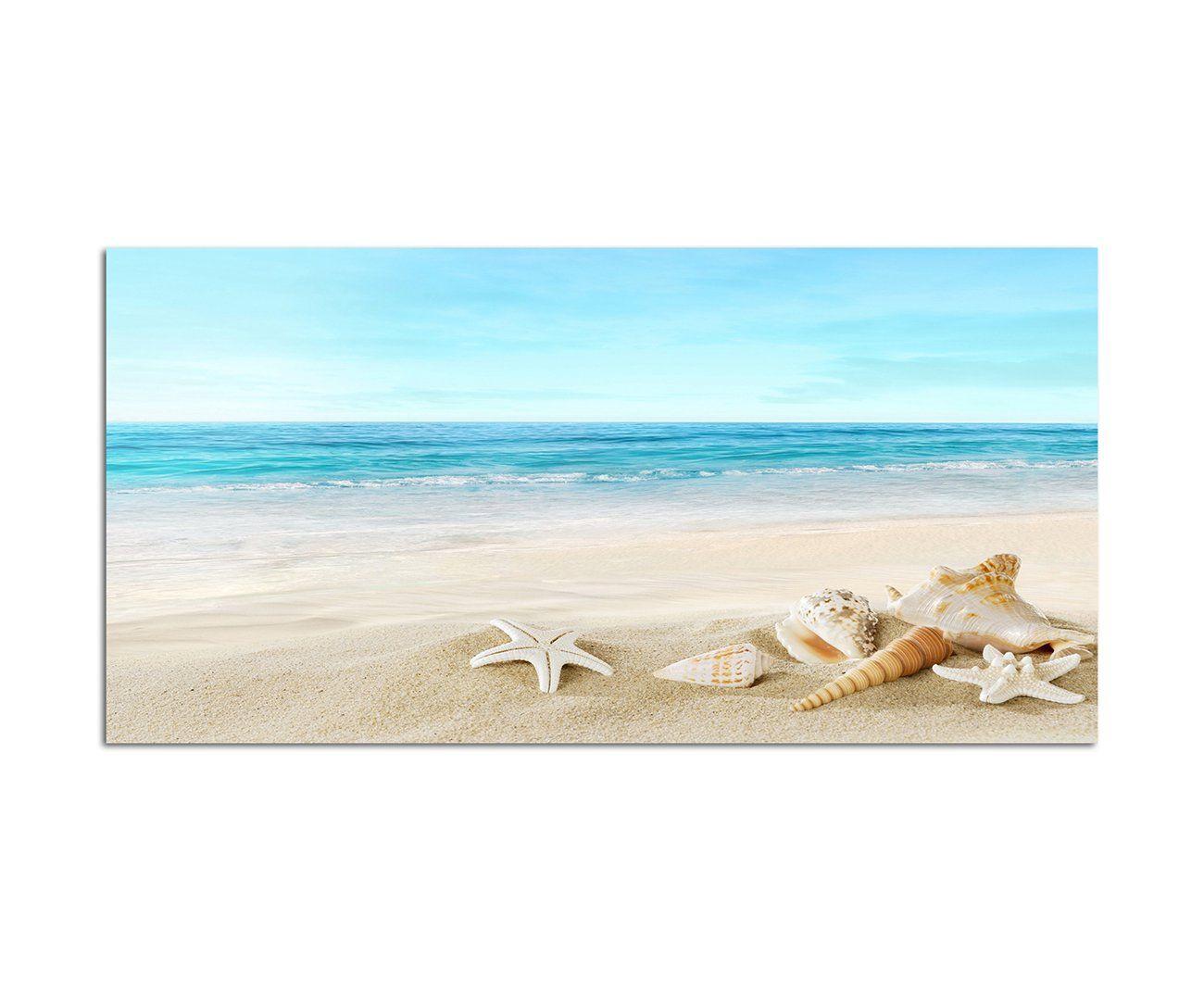 35€ Cuadro Panorama 120x60cm (Conchas en la Playa) Cuadro XXL Arte ...