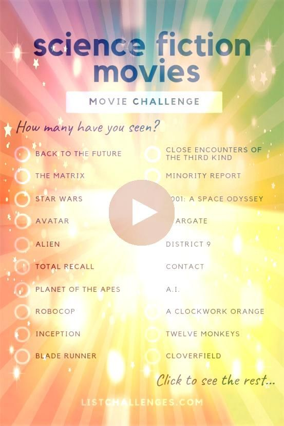 MustSee Science Fiction Movies Movie Challenge How many have you seen There are so many amazing science fiction movies that its hard to include all the greats in a list o...