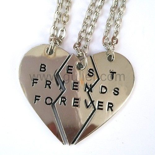 fc743bb42b9a6 Personalized BFF Necklaces Jewelry Set for 3 | Best Friends Forever ...
