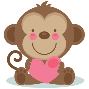 cute valentine monkey svg valentine sticker pinterest monkey rh pinterest com cute valentine clipart black and white cute valentine clipart free