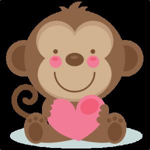 cute valentine monkey svg valentine sticker pinterest monkey rh pinterest com au Happy Valentine's Day Clip Art cute valentine clipart black and white