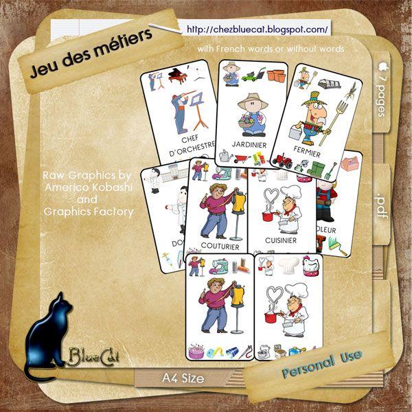 Jeu de 7 familles http://chezbluecat.blogspot.fr/2011/09/new-game.html