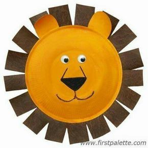 Paper Plate Lion craft // Check out this site for tons of animal crafts that would go great at a Zoo themed party!  sc 1 st  Pinterest & Pin by Ashok Roy on tiger   Pinterest   Paper plate animals Animal ...