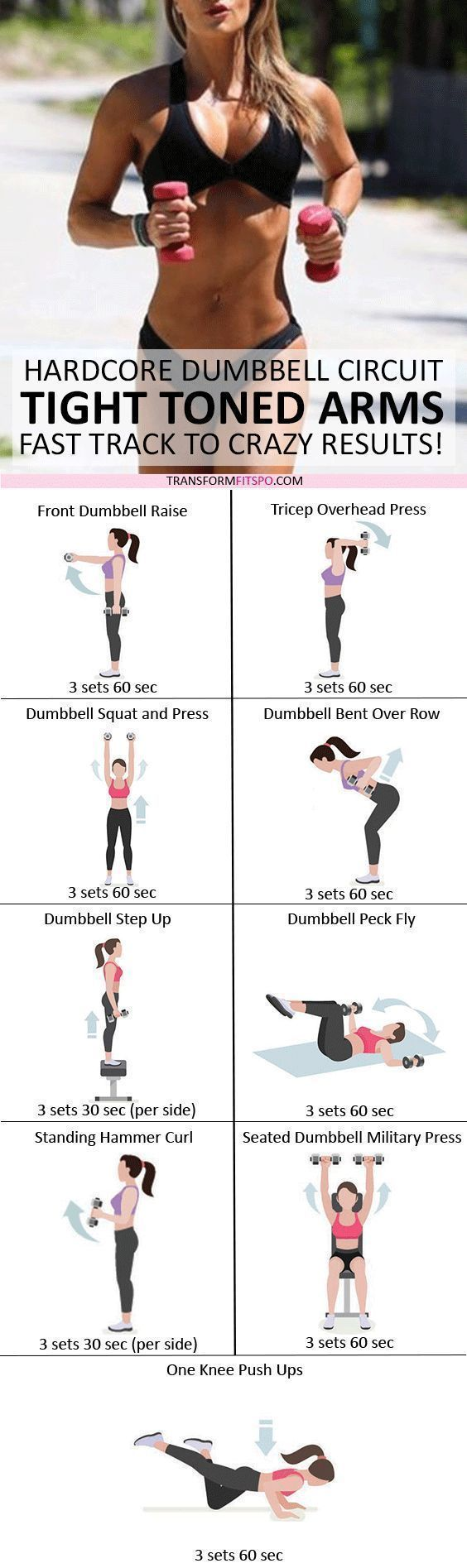 💪🏼 Tighten and tighten your arms! Dumbbell Progressive Circuit for Crazy Results - Yoga & Fitness -...