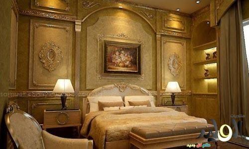 ديكورات غرف نوم فخمة كلاسيك للفلل والقصور 2017 ديكور الوليد Classic Bedroom Classic Bedroom Design Classic Bedroom Decor