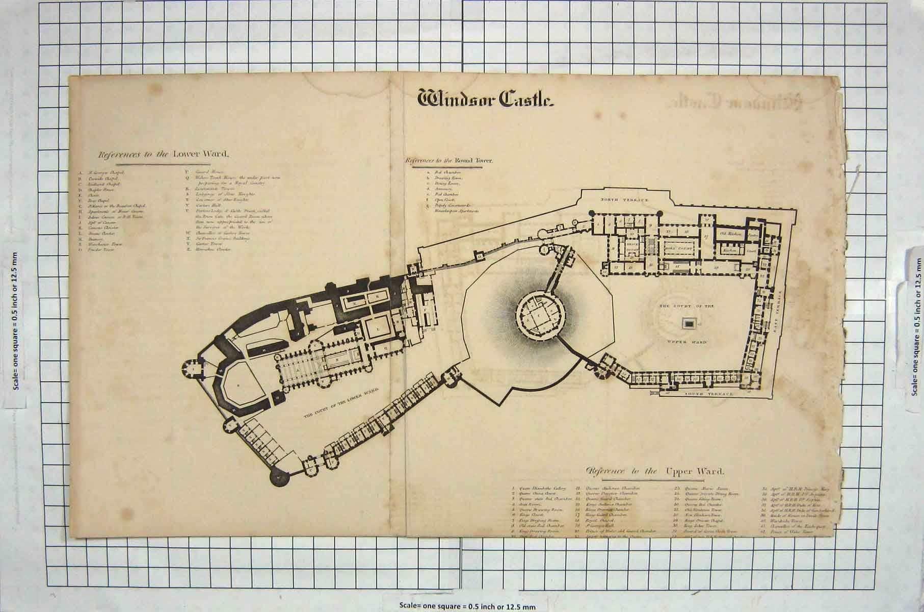 Antique plan of the castle. | Windsor castle, Castle