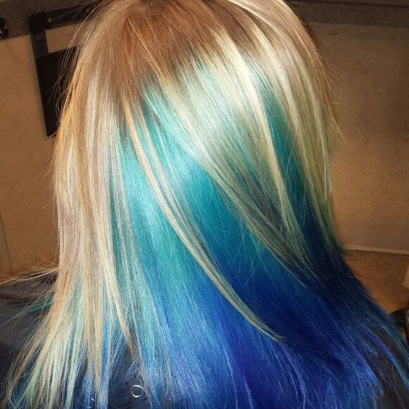 Ocean blue color melt!
