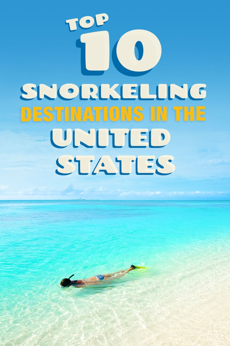 10 Of The Best Places To Snorkel In The US.