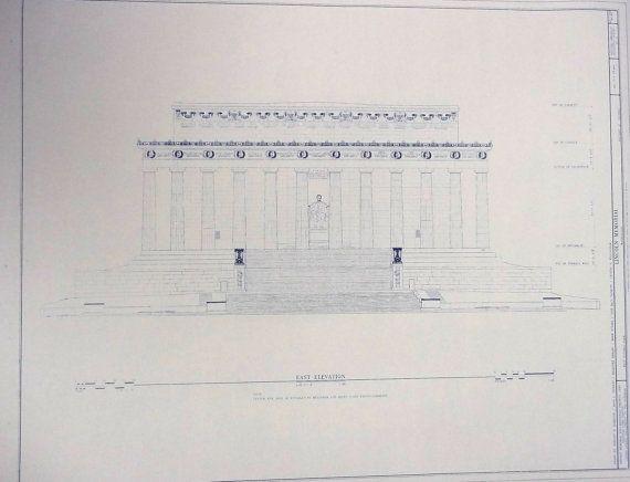 Lincoln Memorial Blueprint Photo Pinterest Lincoln memorial - copy blueprint detail in short crossword clue