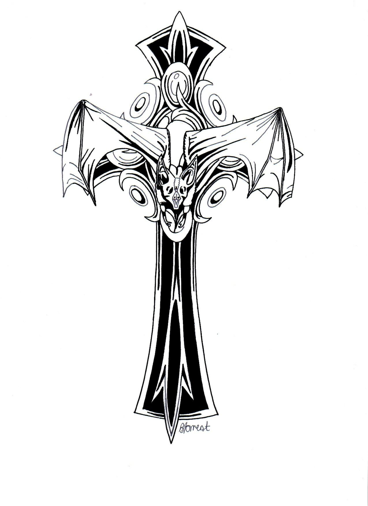 Gothic Cross By Bevf On Deviantart