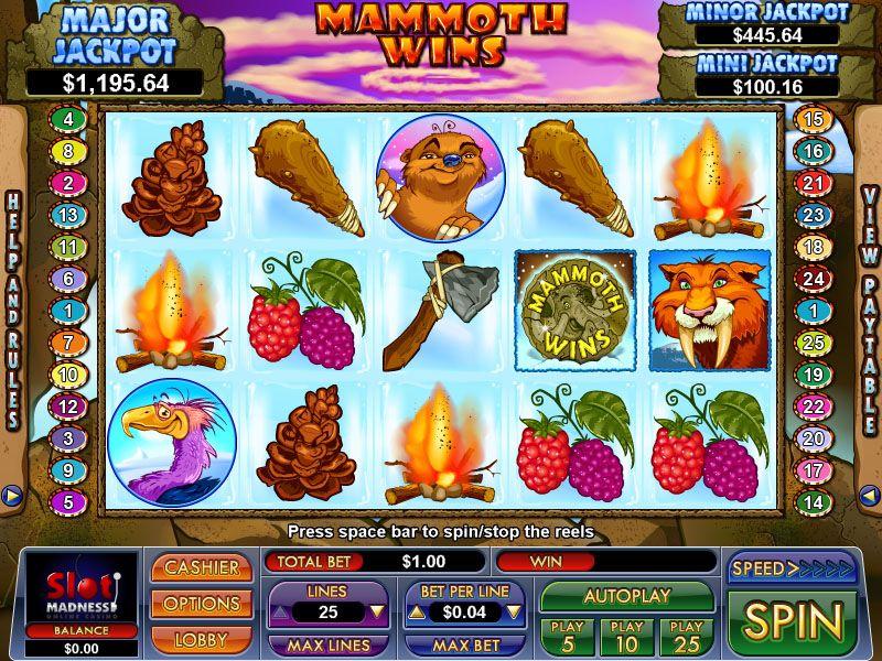 Play Mammoth Wins Slots at Begado Casino 25 No Deposit
