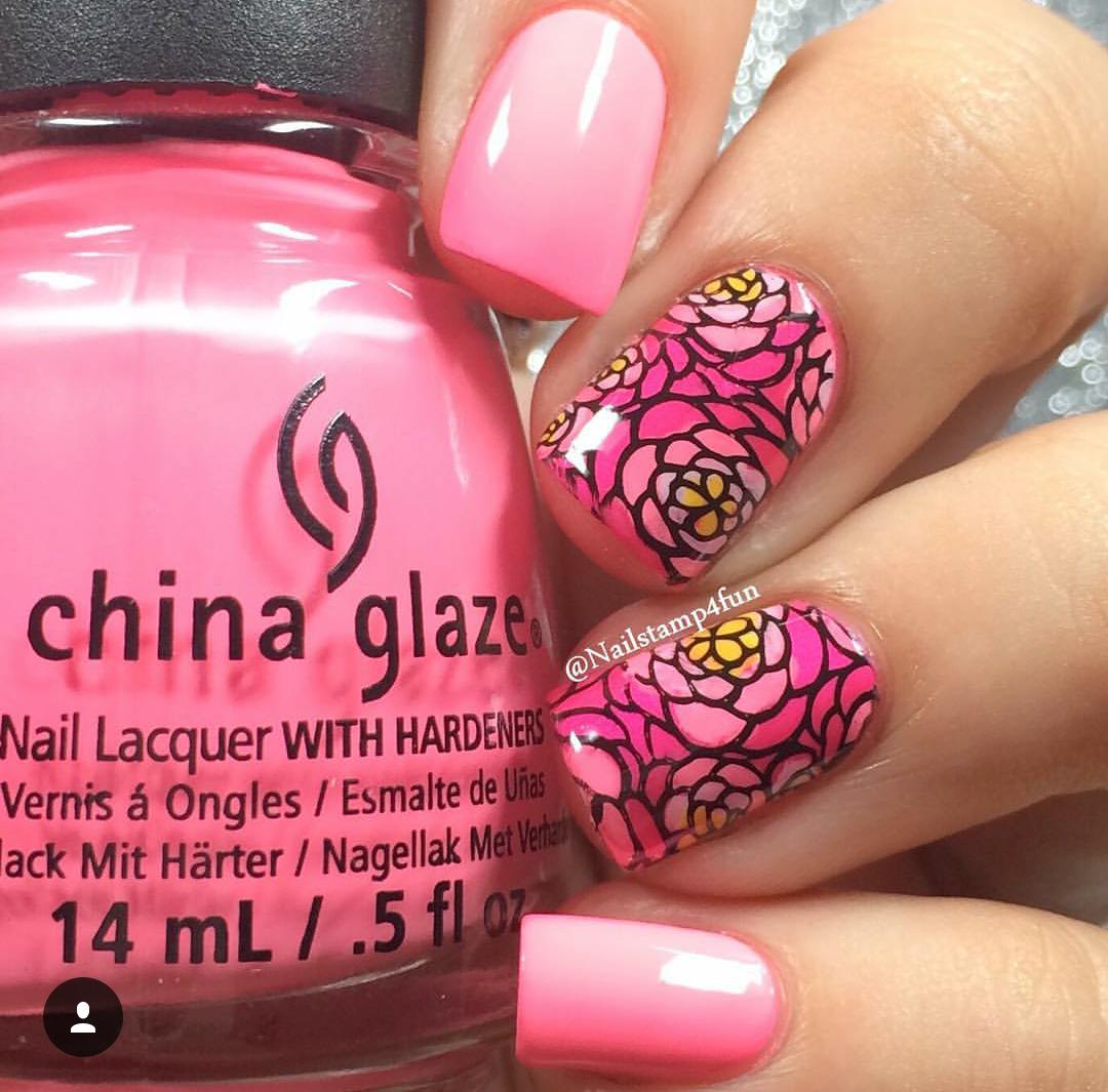 floral nails, flowers, stamping   Nails!   Pinterest   Blumen ...