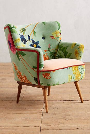 Anthropologie Floret Occasional Chair   This Luxe Velvet Respite Sets A  Sunny Dayu0027s Tone For An Entire Room With Colorful Blooms And A Plump, Plush  Seat.