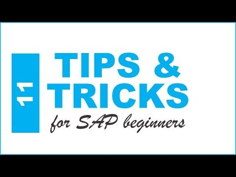 12) Top 11 SAP Tips and Tricks for SAP Beginners - YouTube Actuary