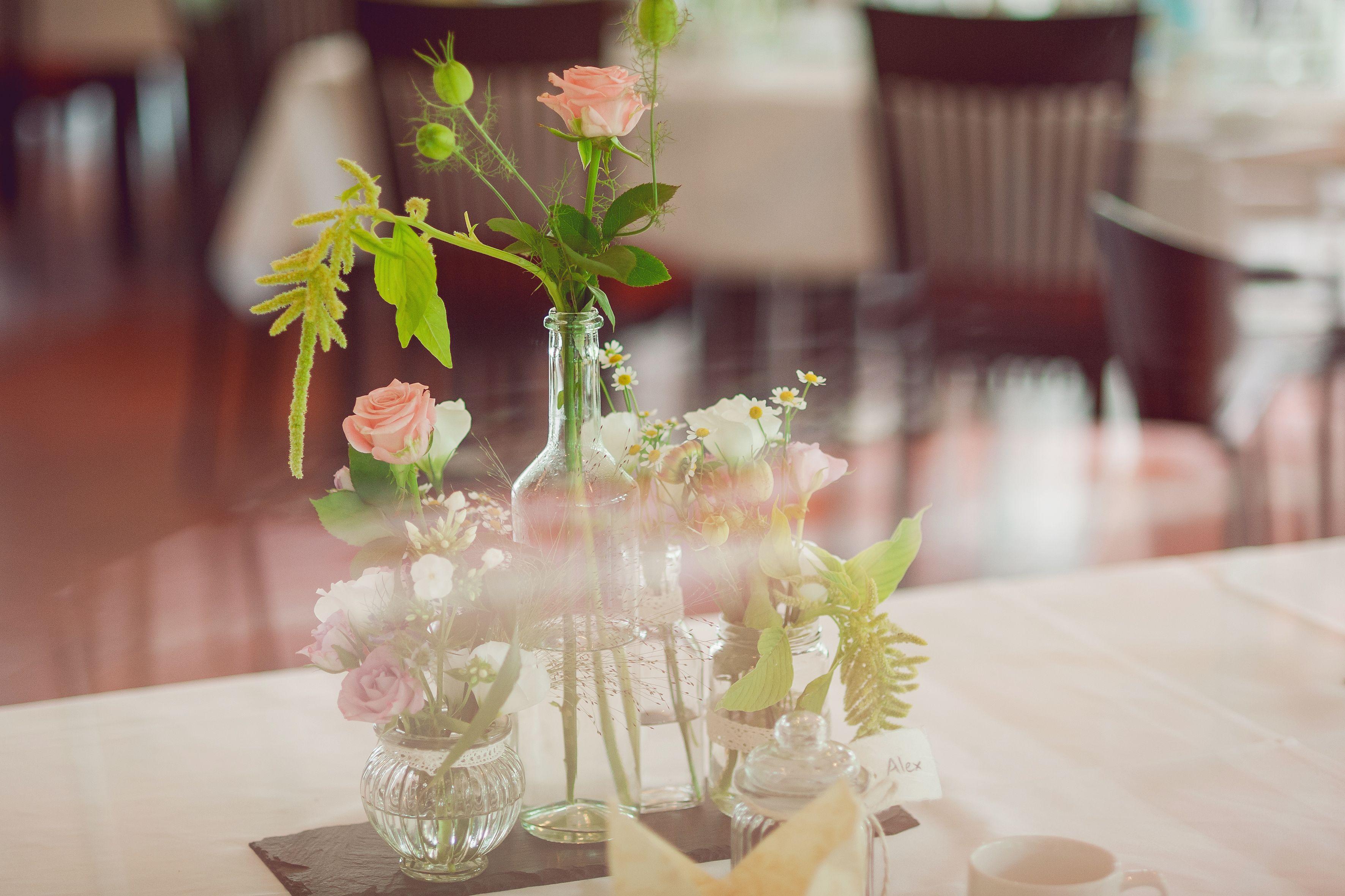 Tischschmuck Hochzeit Floristik Melaniekohl Pinterest