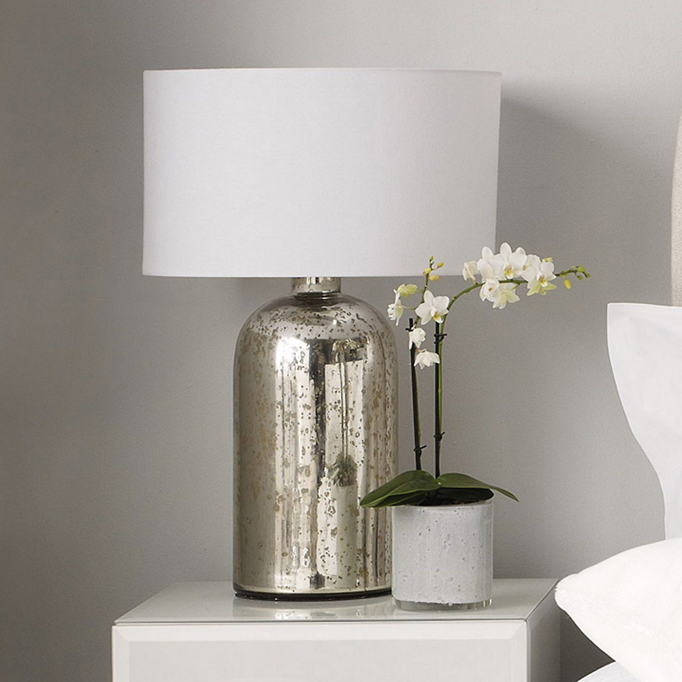 Silver glass bottle table lamp the white company master bedroom silver glass bottle table lamp the white company master bedroom table lamps love aloadofball Choice Image