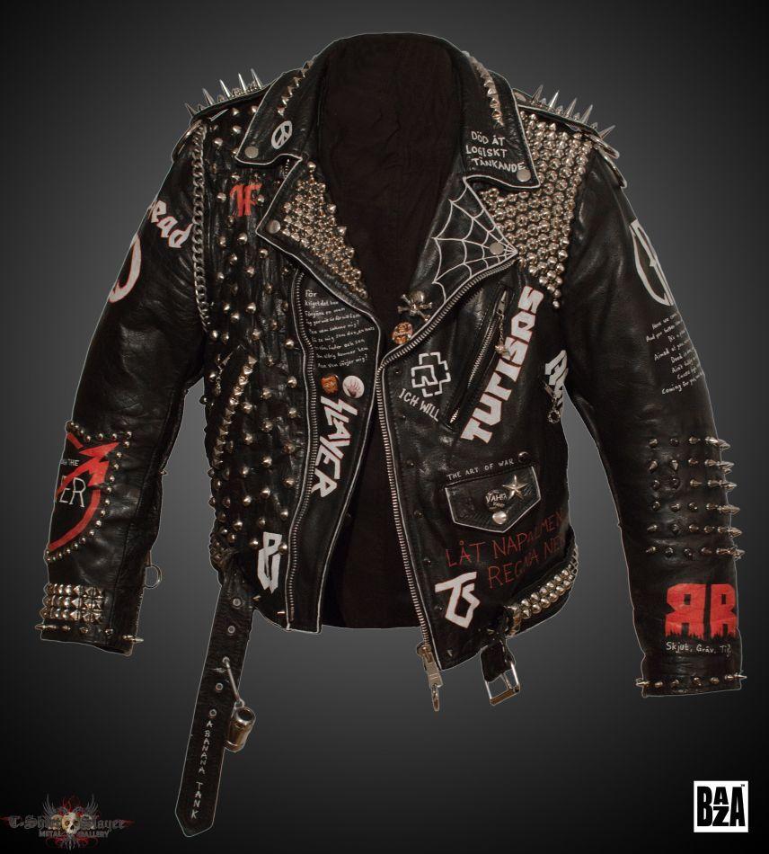 Baza S Sabaton Iron Maiden Motorhead Leather Battle Jacket Battle Jacket Tshirtslayer Punk Jackets Spiked Leather Jacket Painted Leather Jacket [ 950 x 856 Pixel ]