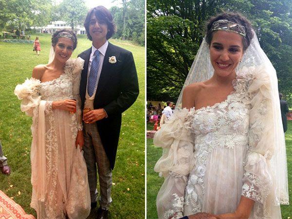 458d374c3ce2 Margherita Missoni in her Giambattista Valli wedding dress on  www.DressSafari.com.