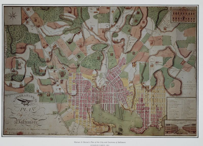 Historic map of Baltimore, from 1801. Must figure out how