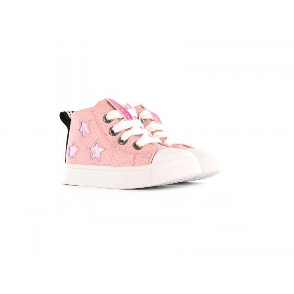 d196f273ea0 #Shoesme hoge roze #sneaker met metallic sterren. Loved by Shoesme.