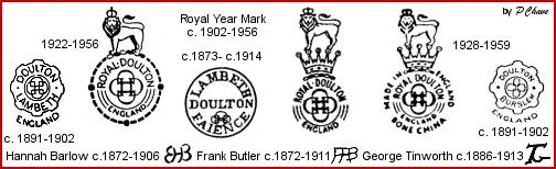 Royal Doulton Vintage Badge Brand Patterns Pottery
