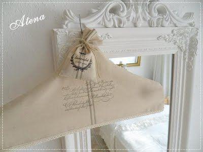 Lavender sachet on French inspired covered hanger